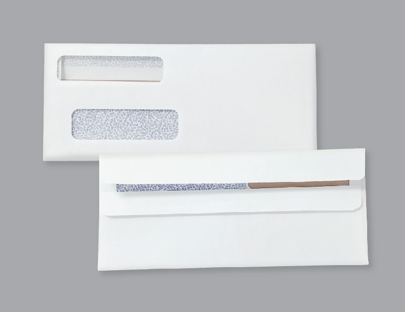 Double Window Envelopes ENV1 Flip & Seal