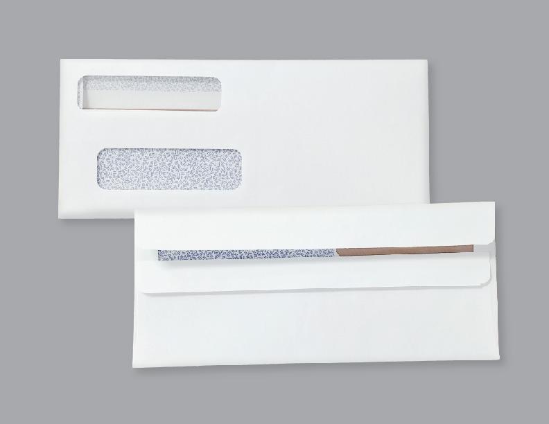 Double Window Envelopes ENV1 Flip & Seal